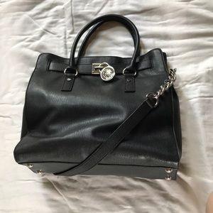 Michael Kors Black soft Leather Hamilton